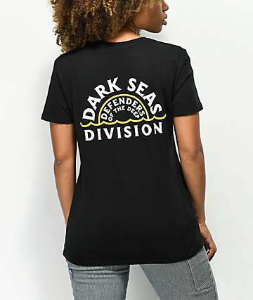 Dark Seas Sunset Black T-Shirt