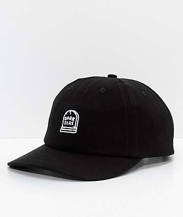 Dark Seas Tomb Black Strapback Hat