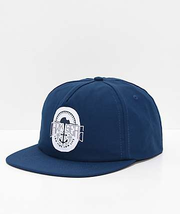 Dark Seas Upland Navy Snapback Hat