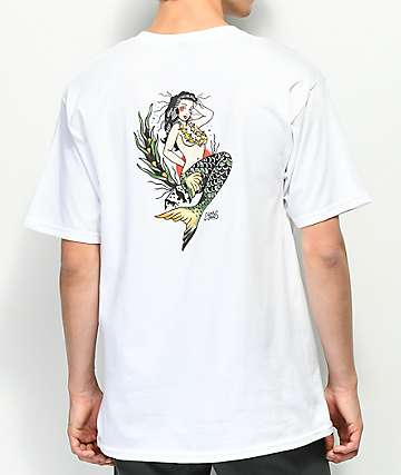 Dark Seas Upstream White T-Shirt