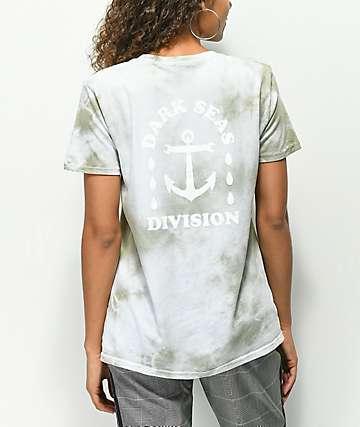 Dark Seas Water Drop Tiger Lily camiseta con efecto tie dye