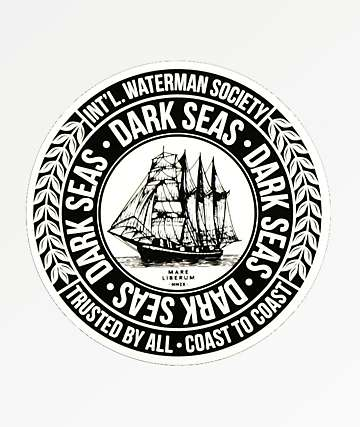 Dark Seas Water Marker Sticker