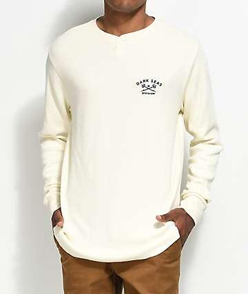 Dark Seas Weston camiseta henley térmico de manga larga en color crema