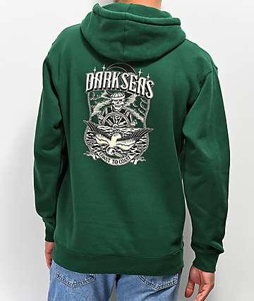 Dark Seas Wheelman sudadera con capucha verde oscuro