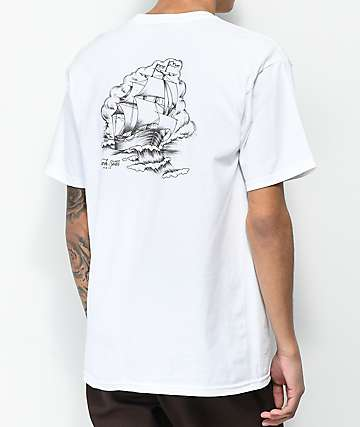 Dark Seas Wind Sweeper White & Black T-Shirt