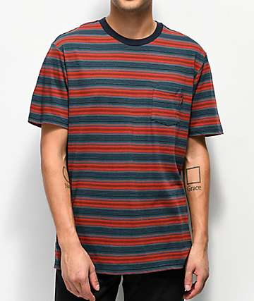Dark Seas Zuma Red Stripe Knit T-Shirt