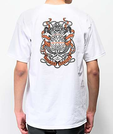 Dark Seas x Grundens Anchored White T-Shirt