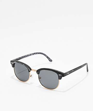 Dark Wood Clubmaster Sunglasses