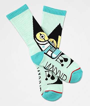 Darkroom Harlequin calcetines azules