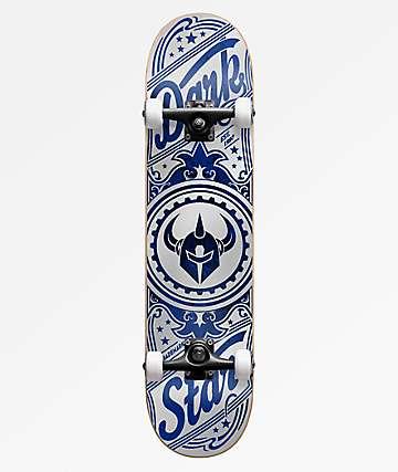 """Darkstar Cosmic Silver 8.0"""" Skateboard Complete"""