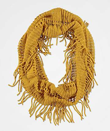 David & Young Blush Mustard Scarf