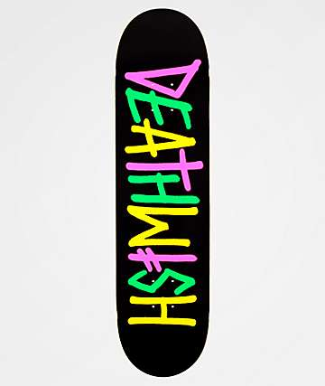 "Deathwish Deathspray Black & Neon 8.0"" Skateboard Deck"