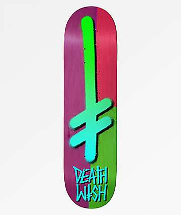 "Deathwish Gang Logo Color Block 8.25"" Skateboard Deck"