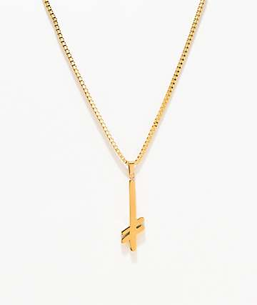 Deathwish Gang Logo Gold Necklace