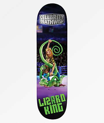 "Deathwish Lizard King Celebrity 8.0"" Skateboard Deck"