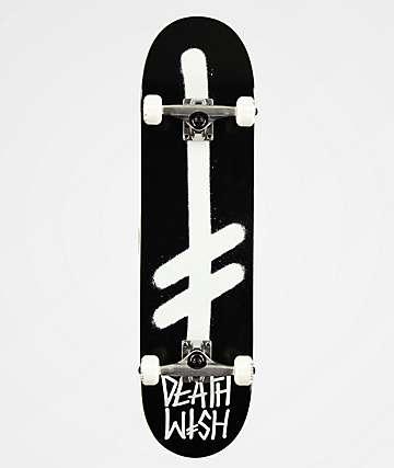 "Deathwish Logo Black & Red 8.25"" Skateboard Complete"