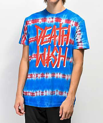 Deathwish Stack Blue & Red Tie Dye T-Shirt