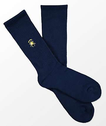 Deathworld Anklebitter Navy Crew Socks