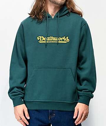Deathworld Coney Island Dark Green Hoodie