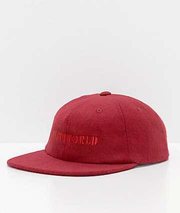 Deathworld Continental Ox Blood gorra strapback de fieltro en rojo