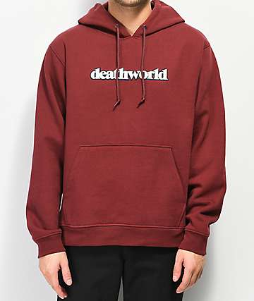 Deathworld Courtside Burgundy Hoodie