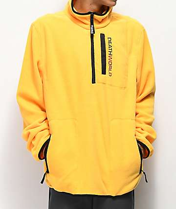 Deathworld Half Zip Yellow Tech Fleece Jacket