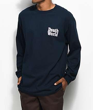 Deathworld Long Death Navy Long Sleeve T-Shirt