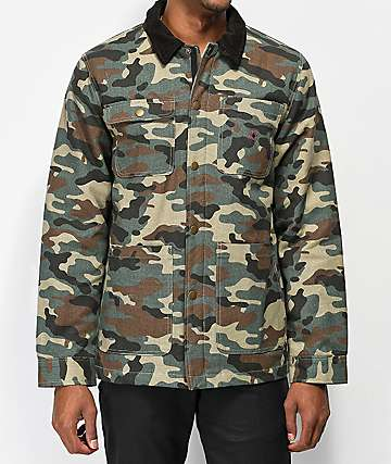 Deathworld Military Button Up Camo Jacket