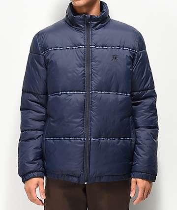 Deathworld Navy Puffer Jacket