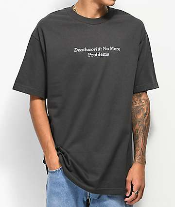 Deathworld No Problems Black T-Shirt