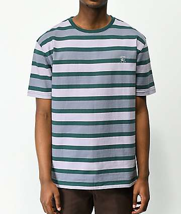 Deathworld Purple & Green Stripe Shirt