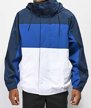 Deathworld Romulus Blue Colorblocked Windbreaker Jacket