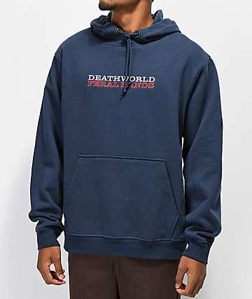 Deathworld Spindlar sudadera con capucha azul marino