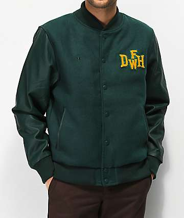 Deathworld Varsity Green Jacket