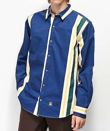 Deathworld Vertical Stripe Woven Shirt