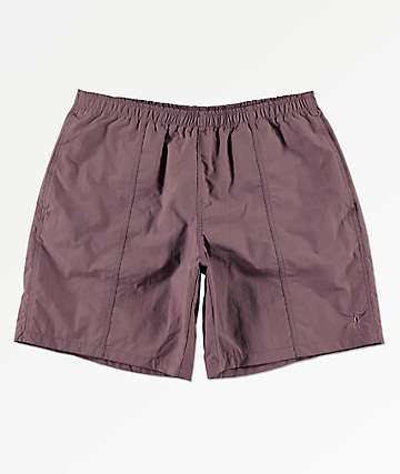Deathworld Warm Up Purple Elastic Waistband Shorts