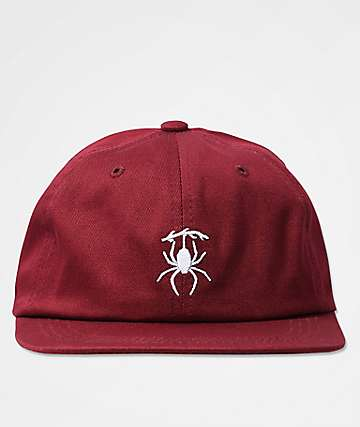 Deathworld Woodlouse Burgundy Six Panel Hat