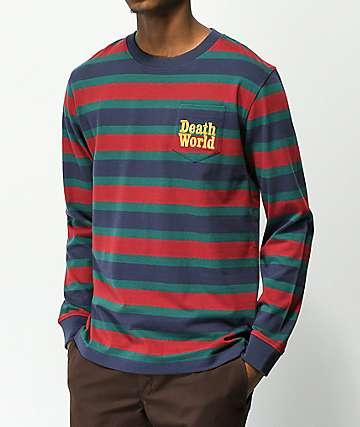 Deathworld camiseta de rayas con bolsillo