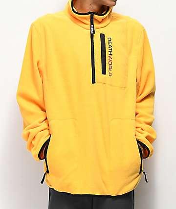 Deathworld chaqueta de polar técnico amarillo