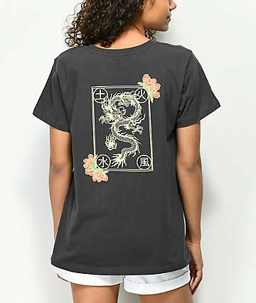 Desert Dreamer Elements Washed Black T-Shirt