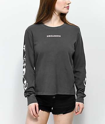 Desert Dreamer Flower Dream Team Black Long Sleeve T-Shirt