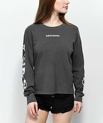 Desert Dreamer Flower Dream Team Black Long Sleeve T-Shirt