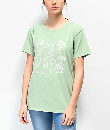 Desert Dreamer Light Flowers Sage T-Shirt