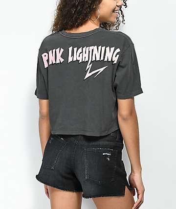 Desert Dreamer Pink Lightning camiseta corta en negro