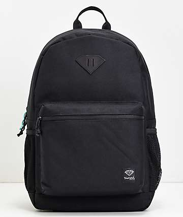 Diamond Cutlet Black Backpack
