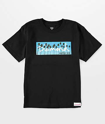 Diamond Supply Co Boys OG Palms Black T-Shirt