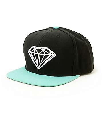 0050ff54781 Diamond Supply Co Brilliant Black   Blue Snapback Hat