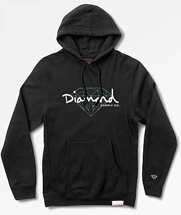 Diamond Supply Co Brilliant Script Black Hoodie
