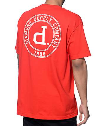 Diamond Supply Co College Seal Red T-Shirt
