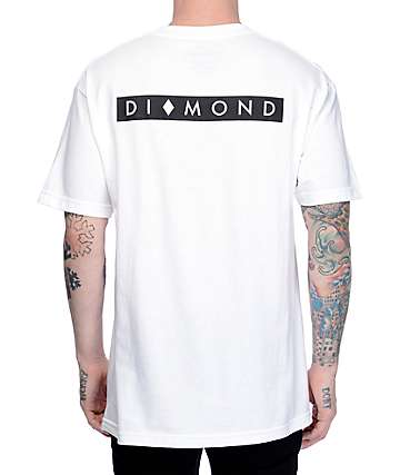 Diamond Supply Co Marquise camiseta blanca